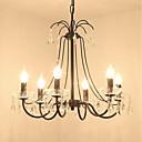 halpa Työpöytävalaisimet-JLYLITE 6-Light Pyöreät / Kynttilä-style Kattokruunu Ylöspäin valot Galvanoitu Metalli Candle Style 110-120V / 220-240V