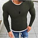 povoljno Muške čizme-Muškarci Dnevno Osnovni Jednobojni Dugih rukava Regularna Pullover Crn / Red / Sive boje XXXL / 4XL / XXXXXL