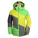 hesapli Yumuşak Kap, Polar ve Dağcılık Ceketleri-BEIQIU Kadın's Kayak Ceketleri Su Geçirmez Rüzgar Geçirmez Sıcak Kayakçılık Kamp & Yürüyüş Kış Sporları POLİ Yamurluklar Sıcak Tutan Üstler Üstler Kayak Kıyafeti