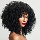 povoljno Perike s ljudskom kosom-Remy kosa Lace Front Perika Srednji dio stil Brazilska kosa Kinky Curly Natural Perika 150% 180% 250% Gustoća kose Najbolja kvaliteta Rasprodaja Gust s isječkom Žene Srednja dužina Perike s ljudskom
