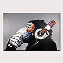 halpa Tulosteet-Hang-Painted öljymaalaus Maalattu - Abstrakti Pop Art Moderni Ilman Inner Frame / Valssatut kankaat