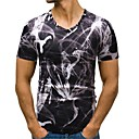 billiga Våtdräkter underställ och rashguards-Jacquard EU / US-storlek Bomull T-shirt Herr V-hals Purpur L