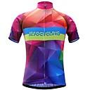 hesapli Bisiklet Formaları-JESOCYCLING Kadın's Kısa Kollu Bisiklet Forması - Kırmızı+Mavi Gradient Bisiklet Forma Üstler Hızlı Kuruma Spor Dalları %100 Polyester Dağ Bisikletçiliği Yol Bisikletçiliği Giyim / Streç