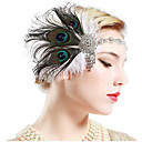 cheap Historical & Vintage Costumes-The Great Gatsby Vintage 1920s The Great Gatsby Costume Women's Headpiece Flapper Headband Head Jewelry White / Black / Green and Black Vintage Cosplay Party Prom