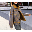 cheap Men's Slip-ons & Loafers-Women's Daily Basic Regular Jacket, Solid Colored Turndown Long Sleeve Cotton Rainbow M / L / XL / Slim