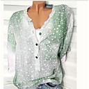 preiswerte Kindertanzkleidung-Damen Solide - Grundlegend Übergrössen Hemd Schlank Grün XXXL