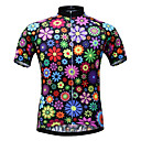 cheap Cycling Jerseys-JESOCYCLING Women's Short Sleeve Cycling Jersey - Rainbow Floral / Botanical Plus Size Bike Jersey Top Breathable Quick Dry Ultraviolet Resistant Sports 100% Polyester Mountain Bike MTB Road Bike