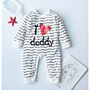 billige Sett med Gutter babyklær-Baby Gutt Aktiv Daglig Ensfarget / Stripet / Geometrisk Trykt mønster Langermet Bomull Endelt Svart
