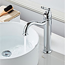 cheap Kitchen Faucets-Bathroom Sink Faucet - Widespread Chrome Centerset Single Handle One HoleBath Taps