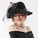 cheap Party Headpieces-Elizabeth The Marvelous Mrs. Maisel Women's Adults' Ladies Retro Vintage Felt Hats Kentucky Derby Hat Fascinator Hat Hat Black Red Bowknot Flower Headwear Lolita Accessories