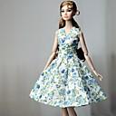 זול אביזרים לבובות-שמלות שמלה ל ברבי דול כחול בד כותנה / לא ארוג שמלה ל הילדה של בובת צעצוע