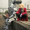 billige Anime Kostumer-Inspireret af Helmetal Alkemist Edward Elric Anime Cosplay Kostumer Cosplay Kostumer Patchwork Langærmet Frakke / 背心 / Bukser Til Herre