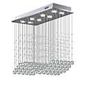 ieftine Montaj Flush-8-Light Cristal Candelabre Lumină Spot Galvanizat Metal Cristal, Bec Inclus, designeri 110-120V / 220-240V Alb Cald / Alb Rece Bec Inclus / GU10