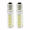 billige LED-lyspærer-2pcs 4.5 W 450 lm E14 LED-kornpærer T 76 LED perler SMD 2835 Mulighet for demping Varm hvit / Kjølig hvit 220 V