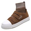 hesapli Erkek Sneakerları-Erkek Ayakkabı PU Sonbahar Günlük Spor Ayakkabısı Günlük için Siyah / Gri / Kahverengi