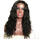 voordelige Kanten pruiken van echt haar-Mensen Remy Haar Kanten Voorkant Pruik Gelaagd kapsel stijl Braziliaans haar Golvend Zwart Pruik 130% Haardichtheid met babyhaar Natuurlijke haarlijn Voor donkere huidskleur onverwerkte Zwart Dames