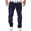 povoljno Muške duge i kratke hlače-Muškarci Ulični šik Dnevno Chinos Hlače - Jednobojni Navy Plava Svijetlosiva Navy Plava 28 34 36