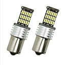 cheap Car Exterior Lights-4pcs BA15S(1156) Car Light Bulbs 6 W SMD 4014 700 lm LED Tail Light For universal