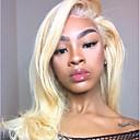 povoljno Perike s ljudskom kosom-Remy kosa Lace Front Perika Brazilska kosa Prirodno ravno Plavuša Perika Bob frizura 130% Gustoća kose Modni dizajn Nježno Sexy Lady Cool Udobnost Plavuša Žene Kratko Perike s ljudskom kosom PERFE