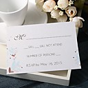 povoljno Party pokrivala za glavu-Stan kartica Vjenčanje Pozivnice 20 - Response card Cvjetni Style Pearl papira