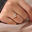 ieftine Cercei bărbați-Pentru femei Piatră prețioasă Clasic Inel Tail Ring Reșină Aliaj Personalizat Simplu Corean Cute Stil Inele la Modă Bijuterii Auriu Pentru Cadou Zilnic Ceremonie 6 / 7 / 8