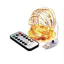 abordables Guirlandes Lumineuses LED-8 mode 33ft led string 10m 100led 5v usb fil de cuivre guirlande lumineuse lumières intérieur en plein air de noël décor