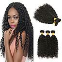 halpa Aitohiusperuukit-6 pakettia Brasilialainen Intialainen Kinky Curly Virgin-hius Remy-hius Lahjat Cosplay Puvut Headpiece 8-28 inch Luonnollinen väri Hiukset kutoo Silkkinen Paras laatu Paksu Hiukset Extensions Naisten