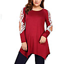 cheap Women's Sandals-women's asian size slim blouse - solid colored round neck