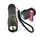 رخيصةأون المصابيح اليدوية وفوانيس الإضاءة للتخييم-UltraFire W-878 LED Flashlights LED Cree® XM-L T6 1 بواعث 1800 lm 5 إضاءة الوضع مع البطاريات والشاحن Nonslip grip Camping / Hiking / Caving Everyday Use أخضر أسود