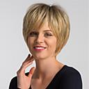 זול פיאות תחרה סינטטיות-שיער ללא שיער שיער אנושי טבעי פיקסי קאט סגנון עיצוב אופנתי / הלבשה קלה / נוח מוזהב קצר ללא מכסה פאה בגדי ריקוד נשים / שיער אומבר / שיער טבעי / שיער טבעי