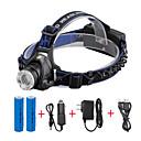 preiswerte USB Hubs & Switches-U'King Stirnlampen Fahrradlicht LED LED 1 Sender 2000 lm 3 Beleuchtungsmodus inklusive Batterien und Ladegeräten Zoomable-, einstellbarer Fokus, Kompakte Größe Camping / Wandern / Erkundungen, Für