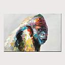 olcso Virág festmények-Hang festett olajfestmény Kézzel festett - Absztrakt Pop-művészet Modern Anélkül, belső keret