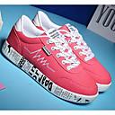 hesapli Kadın Sneakerları-Kadın's Ayakkabı Kanvas İlkbahar & Kış Spor Ayakkabısı Düz Taban Günlük / Dış mekan için Beyaz / Siyah / Pembe