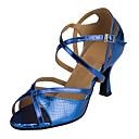 preiswerte Latein Schuhe-Damen Schuhe für den lateinamerikanischen Tanz PU Absätze Keilabsatz Maßfertigung Tanzschuhe Silber / Rot / Marineblau