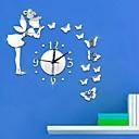 levne Zrcadla Nástěnné hodiny-Moderní styl Plastic & Metal Nepravidelný Vevnitř