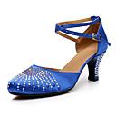 abordables Zapatos de Baile Moderno-Mujer Zapatos de Baile Moderno Sintéticos Tacones Alto Purpurina / Detalles de Cristal / Brillante Tacón Cubano Personalizables Zapatos de baile Azul