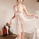お買い得  バスローブ & ナイトウェア-女性用 スカート - ソリッド バックレス ホワイト フリーサイズ / ホルター / スーパーセクシー