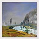 abordables Peintures de Paysages-Peinture à l'huile Hang-peint Peint à la main - Abstrait Moderne Inclure cadre intérieur