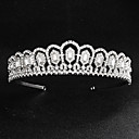cheap Party Headpieces-Alloy Tiaras with Crystals 1 Piece Wedding / Special Occasion Headpiece