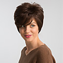 cheap Synthetic Capless Wigs-Human Hair Capless Wigs Human Hair Natural Straight Pixie Cut Fashionable Design / Easy dressing / Comfortable Brown Short Capless Wig Women's / Natural Hairline