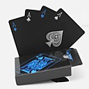 povoljno Protuprovalni alarmi-pvc poker vodootporne plastične igraće karte postaviti crnu karticu postavlja klasične čarobne trikove alat poker igre