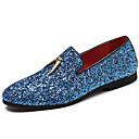 billige Slip-on sko ogloafers-Herre Novelty Shoes Syntetisk Forår & Vinter Afslappet / Britisk Tøfler & Slip-ons Ikke-glider Hvid / Blå / Fest / aften