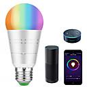 baratos Lâmpadas LED Inteligentes-KWB 1conjunto 7 W 700-800 lm E26 / E27 Lâmpada de LED Inteligente A19 22 Contas LED SMD 5730 Smart / Controle de APP / Cronometragem RGBW 100-240 V