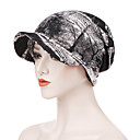 cheap Wallets-Women's Vintage Party Holiday Cotton Polyester Floppy Hat-Print All Seasons Blushing Pink Gray Light gray / Fabric