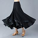 preiswerte Tanzkleidung für Balltänze-Für den Ballsaal Unten Damen Training / Leistung Polyester Horizontal gerüscht Hoch Röcke