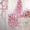 זול פרחים מלאכותיים-פרחים מלאכותיים 1 ענף להתקנה על הקיר מוּשׁהֶה מסיבה חתונה סאקורה סל פרח