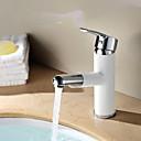 halpa Kylpyhuoneen lavuaarihanat-Kylpyhuone Sink hana - Laajallle ulottuva Maalatut maalit Muu Yksi kahva yksi reikäBath Taps