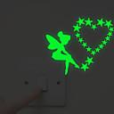 halpa Seinätarrat-Valonkatkaisijan-tarrat - Hohtavat seinätarrat / Ihmiset Wall Stickers Keijut Olohuone / Makuuhuone / Kylpyhuone
