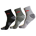 povoljno Odjevni dodaci-Muškarci Planinarske čarape 3 para Ugrijati Prozračnost Quick dry Čarape Pamuk Spandex za Camping & planinarenje Lov Ribolov Crn / Rastezljivo / Zima