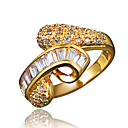 cheap Rings-Women's White Cubic Zirconia Classic Ring Promise Ring wrap ring 18K Gold Plated Imitation Diamond Statement Stylish Romantic Fashion Elegant Ring Jewelry Gold / Silver For Party Engagement Gift